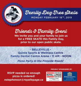 COME ON OUT TO OUR FAMILY SKATE!